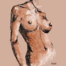 Digital Charcoal nude by Picatso