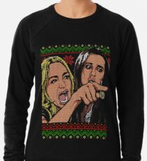 Woman Yelling at Cat meme - Ugly Sweater  Lightweight Sweatshirt