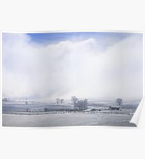 A Blue Sky Promise Over Snowy Countryside Poster