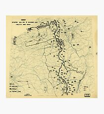 World War II Twelfth Army Group Situation Map November 6 1944 Photographic Print