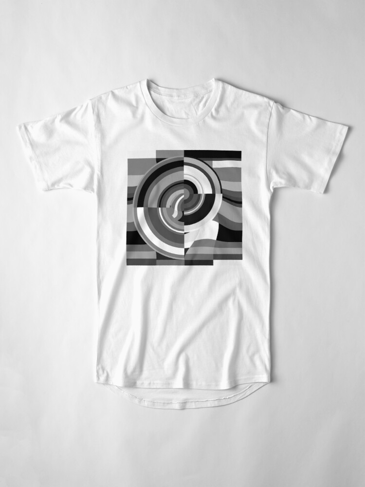 Alternate view of Geometric Revolution 9 Long T-Shirt
