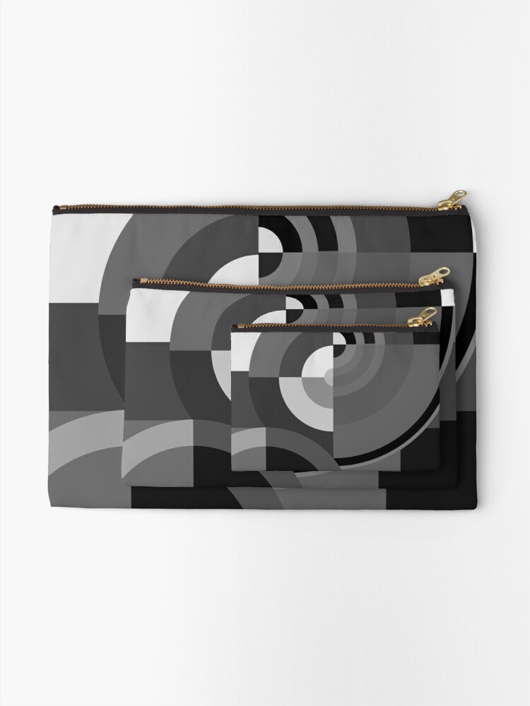 Alternate view of Geometric Revolution 10 Zipper Pouch