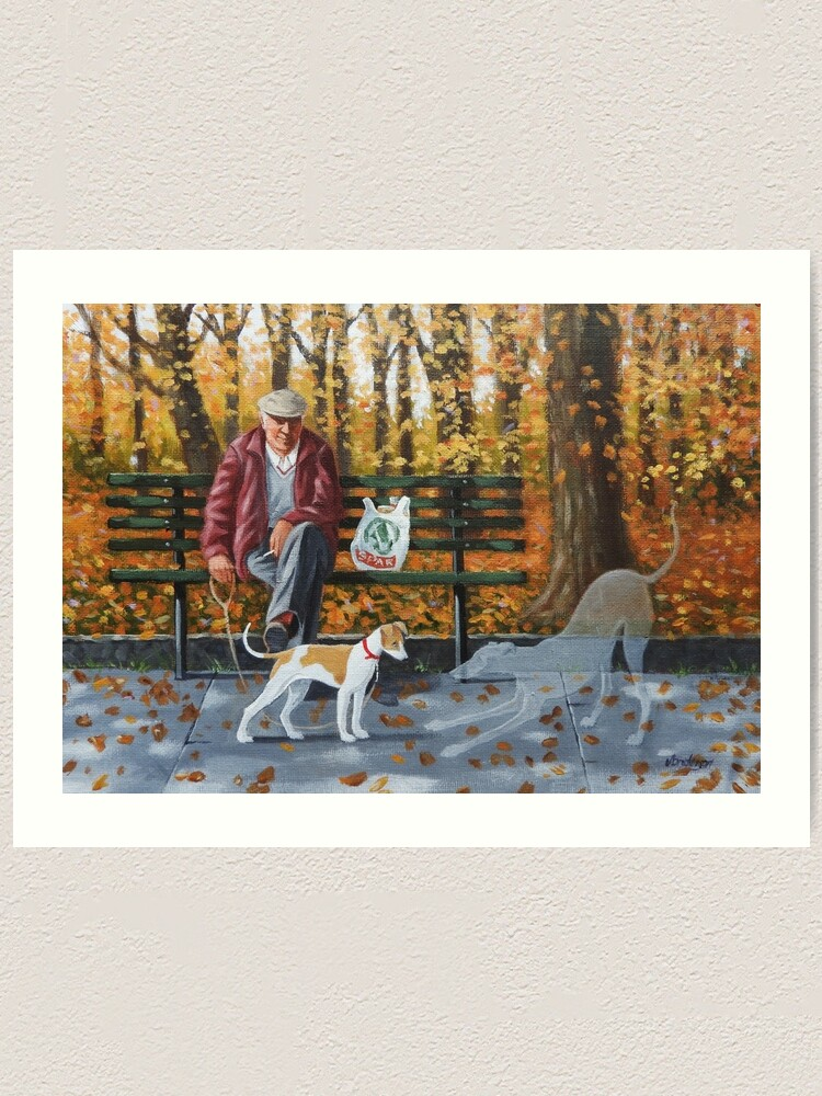 Alternate view of She's a lovely pup, plays on her own for hours.. Art Print