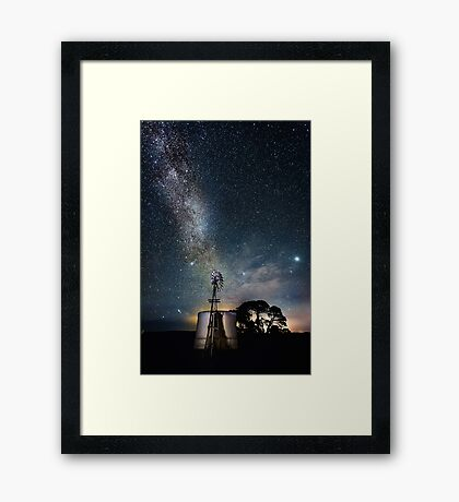 Childers Cover Windmill Milky Way Framed Print
