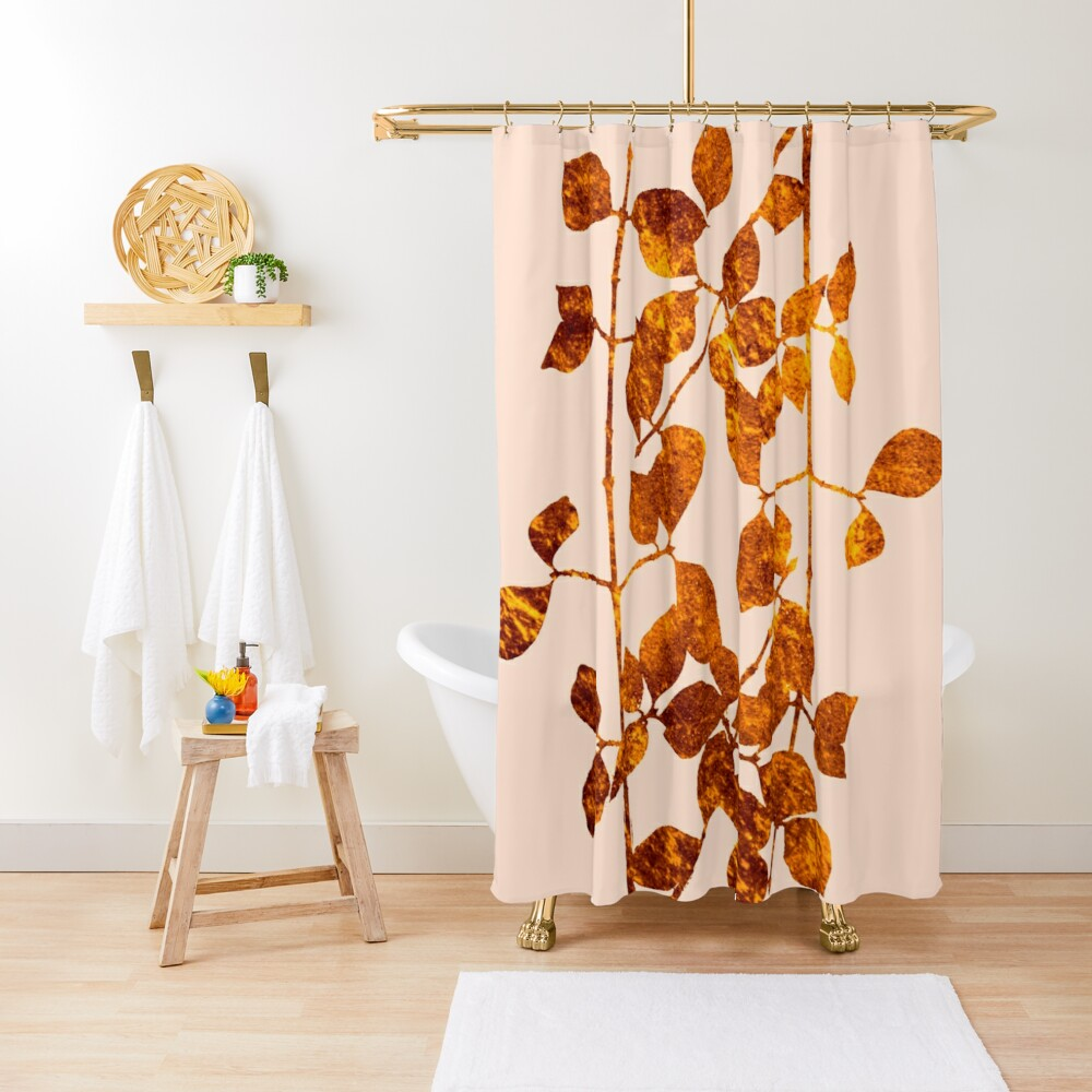 fall golden leaves Shower Curtain