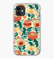 Protea Chintz - Teal & Orange  iPhone Case