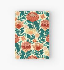 Protea Chintz - Teal & Orange  Hardcover Journal