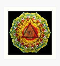 Manipura (Solar Plexus) Chakra Meditation Mandala Original Hand Painted Art Print