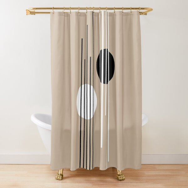 Passerby - Lines and Curves - Set 2 Shower Curtain