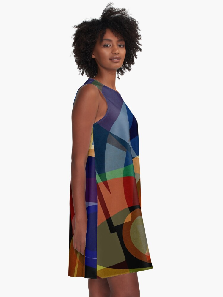 Alternate view of Space Shapes FIVE A-Line Dress