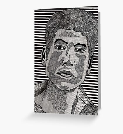 78 - BOB DYLAN - DAVE EDWARDS - INK - 1984 Greeting Card