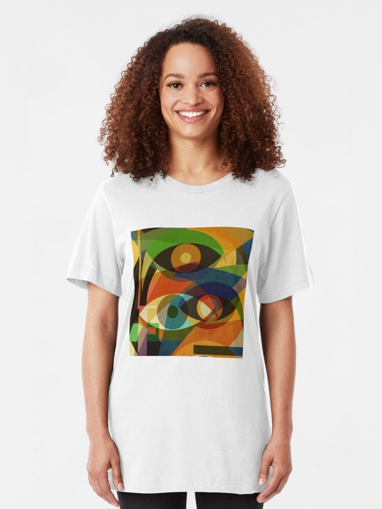 Alternate view of Space Shapes FOUR Slim Fit T-Shirt