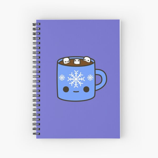Mug of hot chocolate with cute marshmallows Spiral Notebook