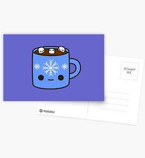 Mug of hot chocolate with cute marshmallows Postcards