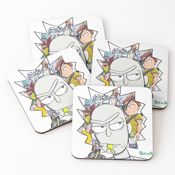 Rick and Morty fan art I Coasters (Set of 4)