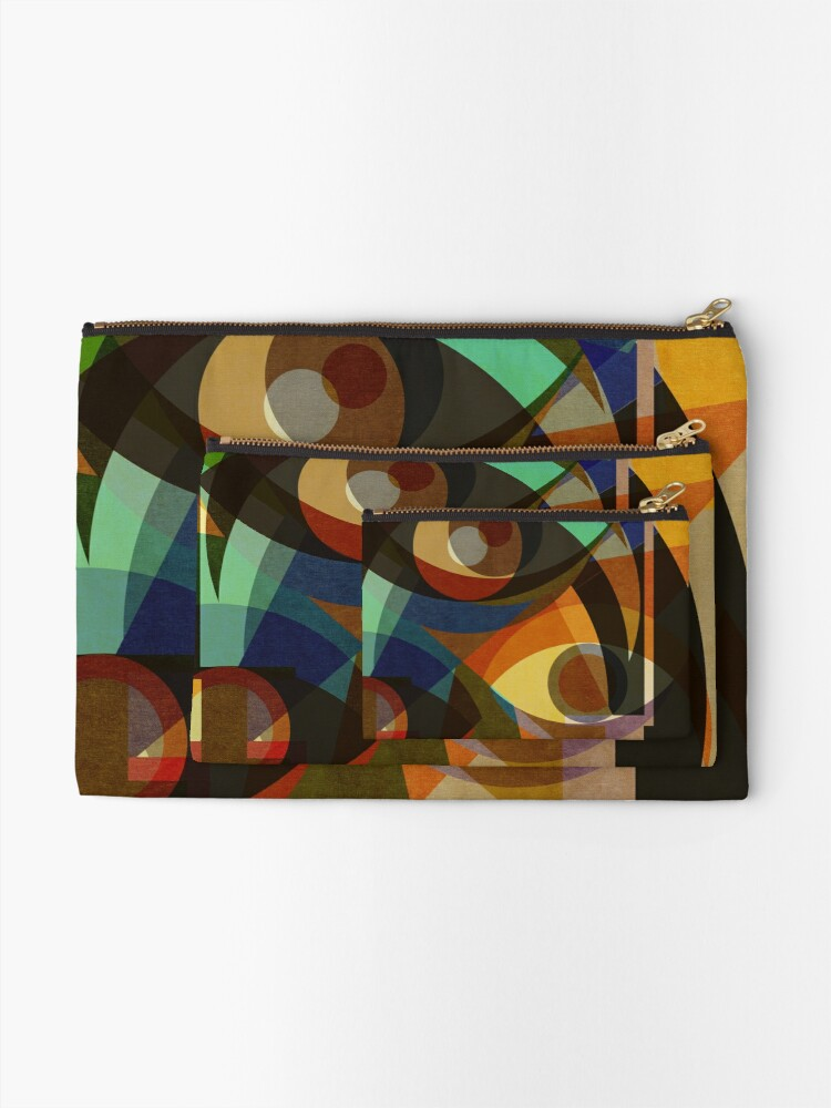 Alternate view of Space Shapes THREE Zipper Pouch