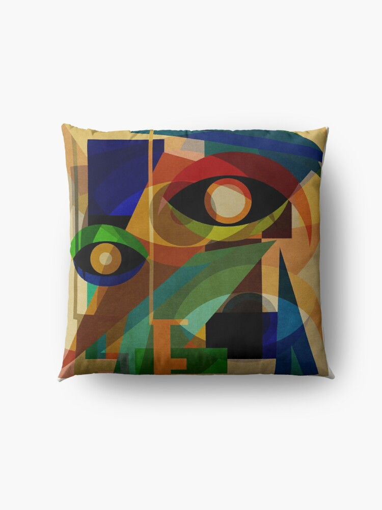 Alternate view of Space Shapes ONE Floor Pillow