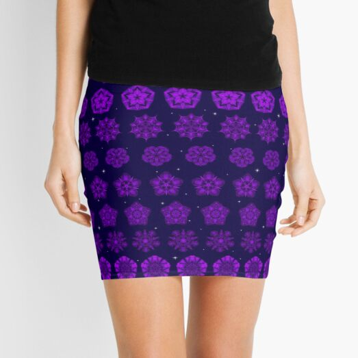 Amethyst in the Sparkling Sea Mini Skirt