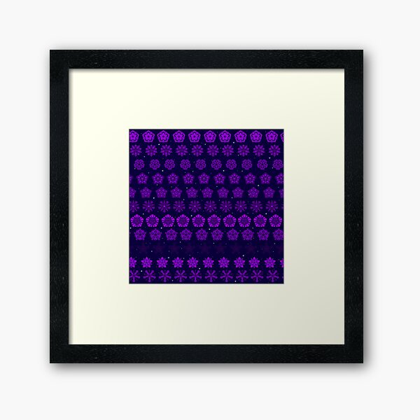 Amethyst in the Sparkling Sea Framed Art Print
