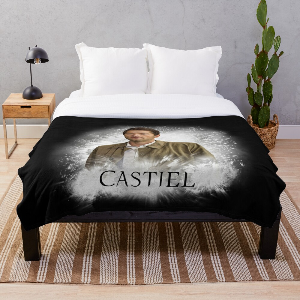 Castiel supernatural Throw Blanket