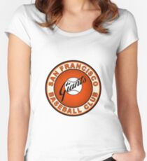 san francisco giants logo 2 Women's Fitted Scoop T-Shirt