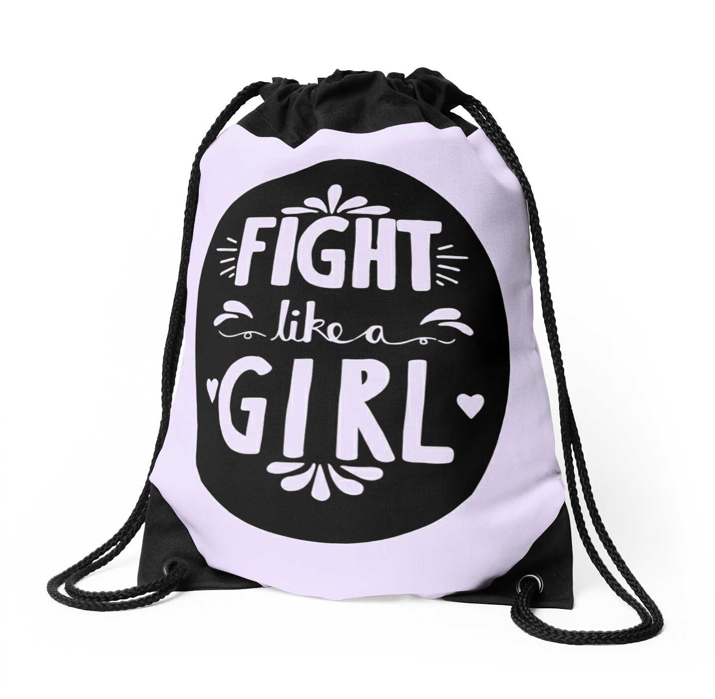 Fight Like A Girl! Oval Design