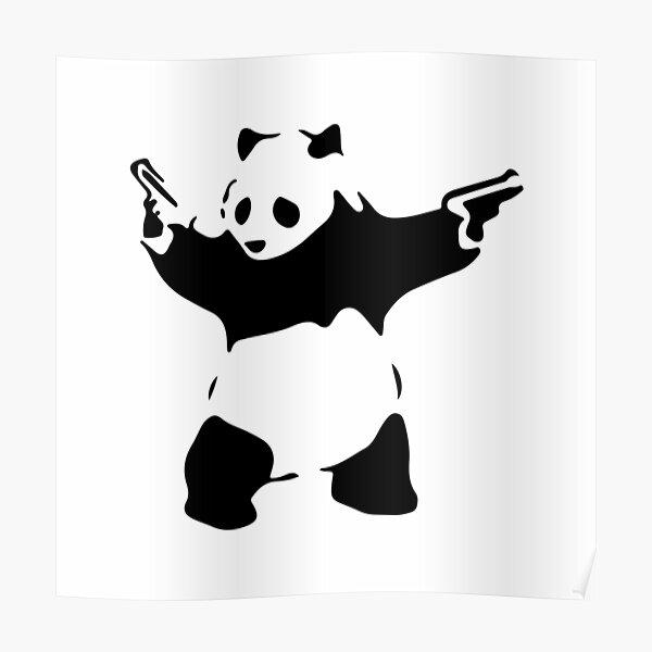 Banksy Panda and guns Poster