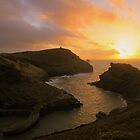 Cornwall: Sunset at Boscastle Harbour by Robert Parsons