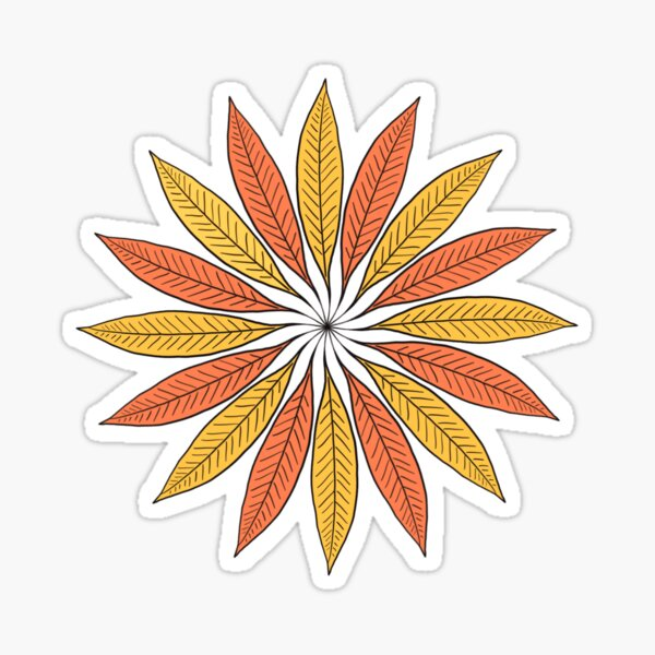 Summer Leafs Flower Sticker