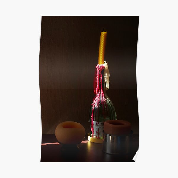 Lighted Candle Poster