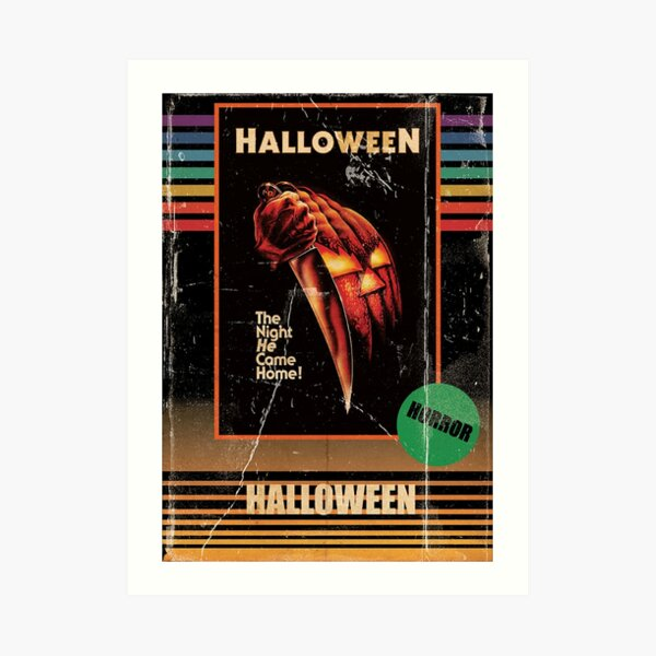 Halloween 1978 VHS horror Movie Poster Art Print
