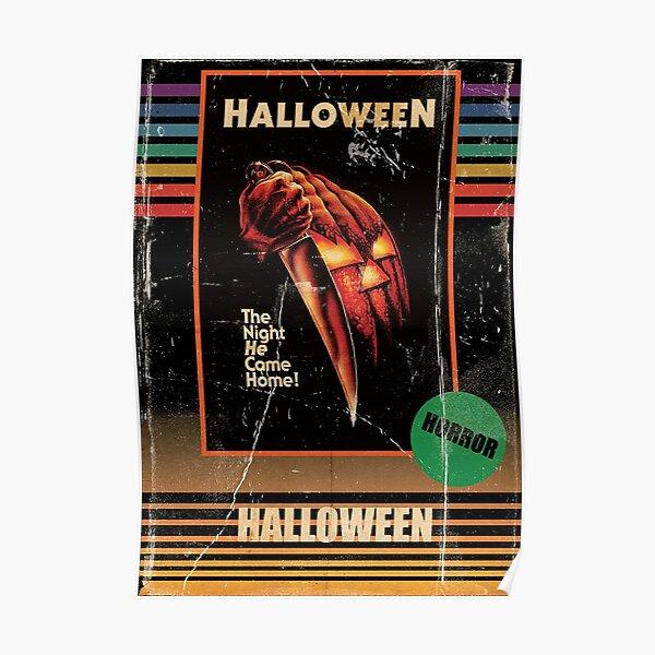 Halloween 1978 VHS horror Movie Poster Poster