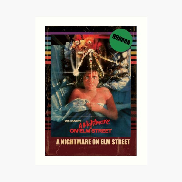 Nightmare On Elm Street 1984 VHS Style Horror Poster Art Print