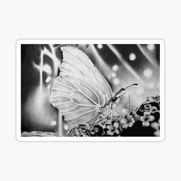 Schmetterling auf einer Blume Sticker