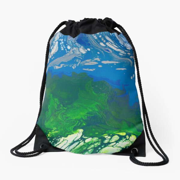 Peaceful Earth Drawstring Bag
