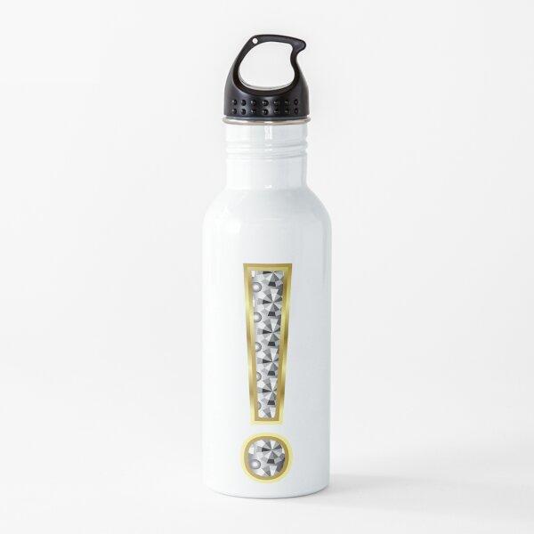 Signo de exclamación Letra Shiny crystal Gold Alphabet Capital! Botella de agua