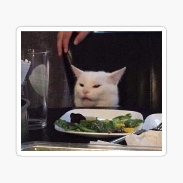 cat meme on crack Sticker