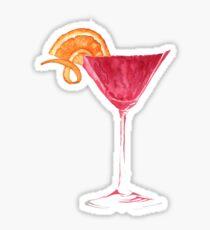 Cosmopolitan Watercolour Cocktail Sticker
