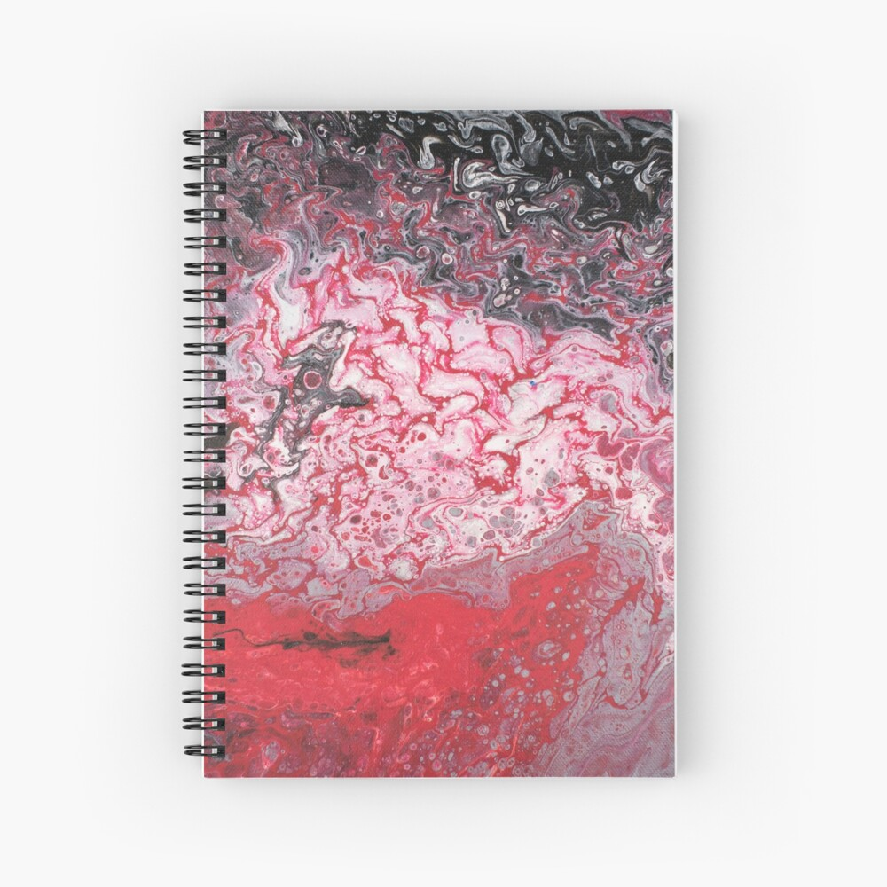 Crimson Sea of Fire Spiral Notebook