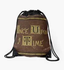Once Upon A Time Book Drawstring Bag