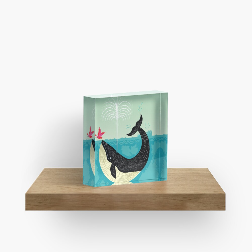 The Bird and The Whale Acrylic Block