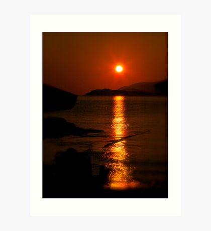 Golden moment - light up life . Bali. Crete. Greece. F*  Views (417) .Awwwwwws !!! Favs (6)  . Hugs thanks ! Art Print
