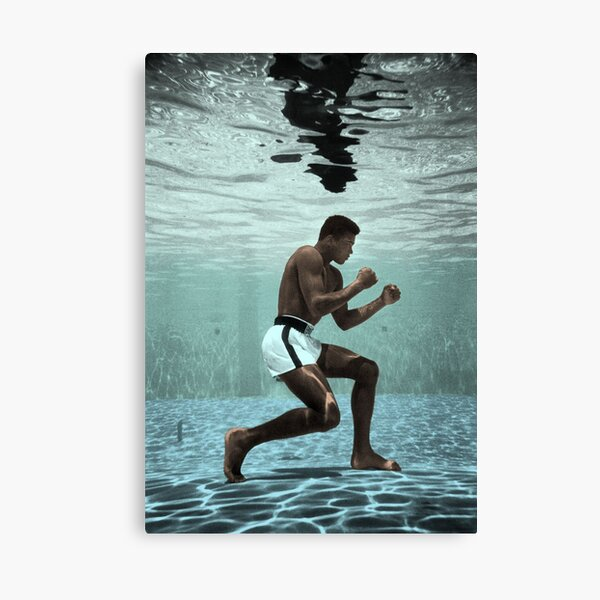 Ali Under Water Boxing Canvas Print