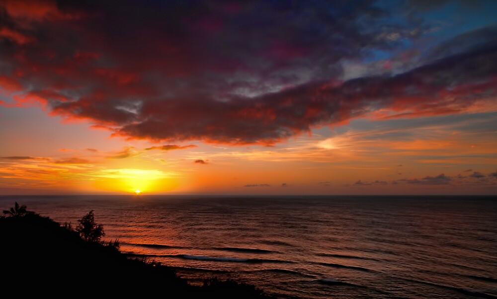 Westward - Sunset, Princeville, Kauai by Matthew Kocin