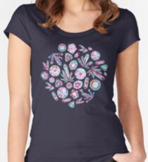 Kaleidoscope Crystals  Fitted Scoop T-Shirt