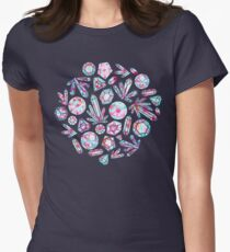 Kaleidoscope Crystals  Fitted T-Shirt