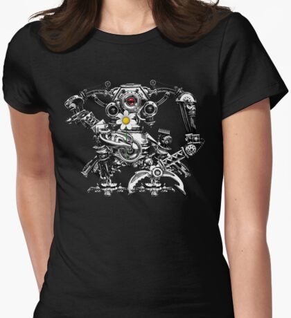 Cyberpunk Vintage Robot with Flower T-Shirt