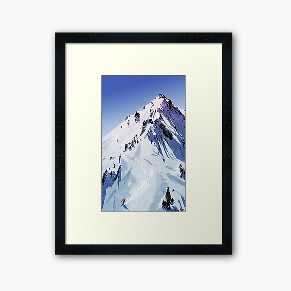 The descent  Framed Art Print