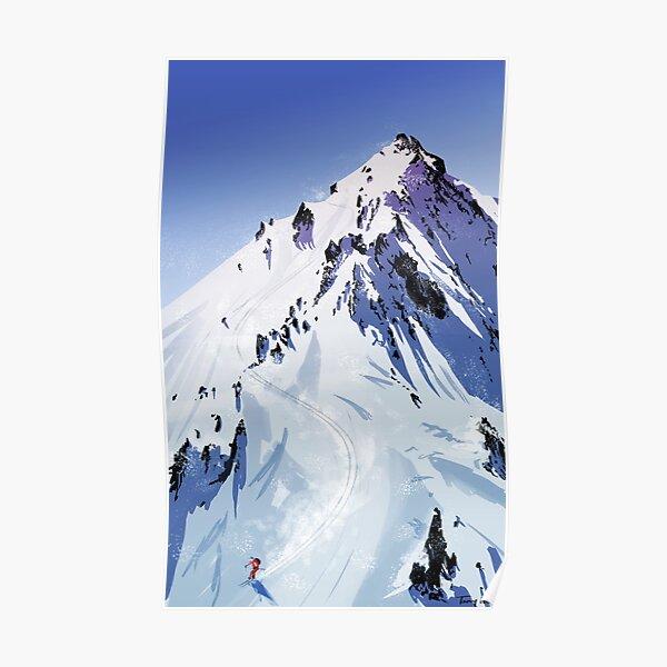 POSTER ENJOY THE RIDE ASPEN COLORADO SKI KID SNOW SLEDDING VINTAGE REPRO FREE SH