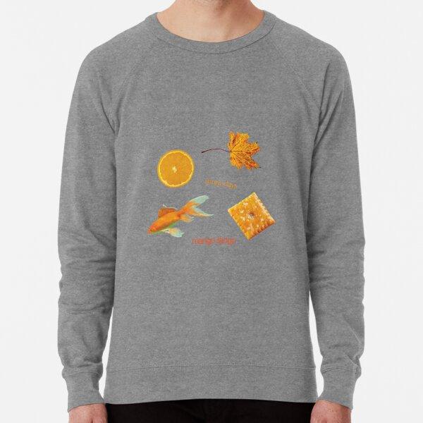 orange stickers Lightweight Sweatshirt